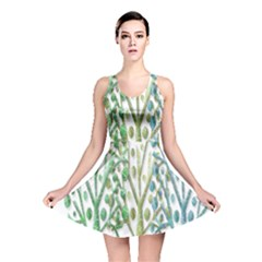 Magical green trees Reversible Skater Dress