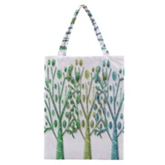 Magical green trees Classic Tote Bag