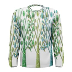 Magical green trees Men s Long Sleeve Tee