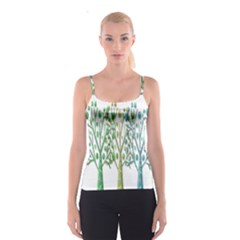 Magical green trees Spaghetti Strap Top