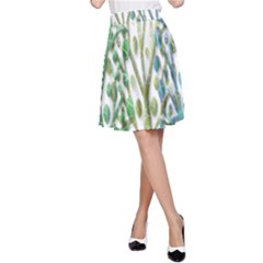 Magical green trees A-Line Skirt