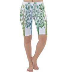 Magical green trees Cropped Leggings