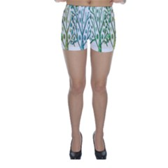 Magical green trees Skinny Shorts