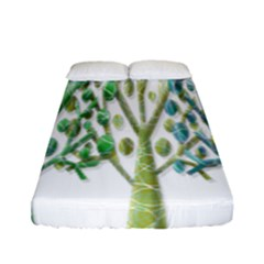 Magical green trees Fitted Sheet (Full/ Double Size)
