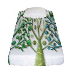 Magical green trees Fitted Sheet (Single Size)