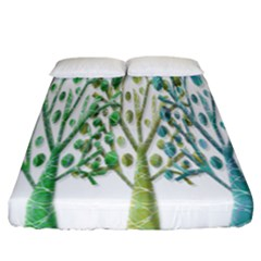 Magical green trees Fitted Sheet (California King Size)