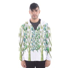 Magical green trees Hooded Wind Breaker (Men)