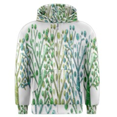 Magical green trees Men s Zipper Hoodie
