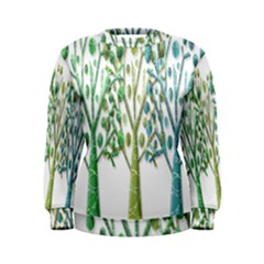 Magical green trees Women s Sweatshirt