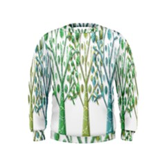 Magical green trees Kids  Sweatshirt