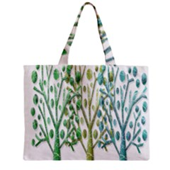 Magical green trees Zipper Mini Tote Bag