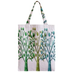 Magical green trees Zipper Classic Tote Bag