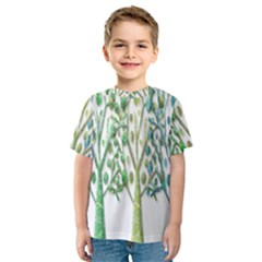 Magical green trees Kids  Sport Mesh Tee
