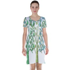 Magical green trees Short Sleeve Nightdress