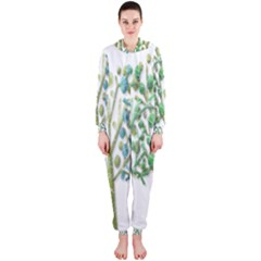 Magical green trees Hooded Jumpsuit (Ladies)