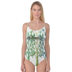Magical green trees Camisole Leotard
