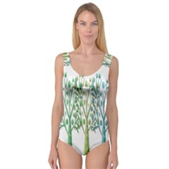Magical green trees Princess Tank Leotard