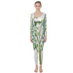 Magical green trees Long Sleeve Catsuit