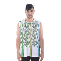 Magical green trees Men s Basketball Tank Top