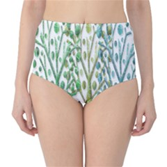 Magical green trees High-Waist Bikini Bottoms