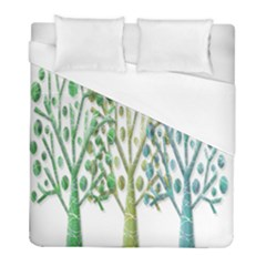 Magical green trees Duvet Cover (Full/ Double Size)