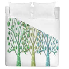 Magical green trees Duvet Cover (Queen Size)