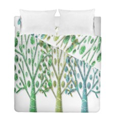 Magical green trees Duvet Cover Double Side (Full/ Double Size)