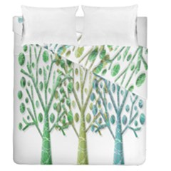 Magical green trees Duvet Cover Double Side (Queen Size)