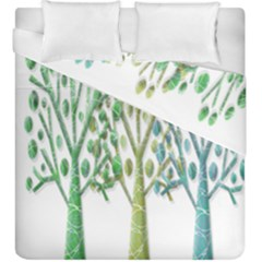 Magical green trees Duvet Cover Double Side (King Size)