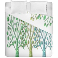 Magical green trees Duvet Cover Double Side (California King Size)