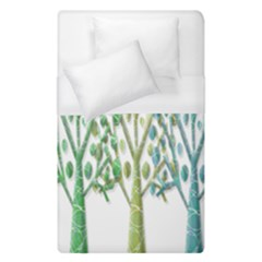 Magical green trees Duvet Cover (Single Size)