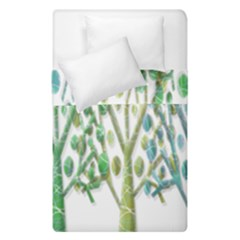 Magical green trees Duvet Cover Double Side (Single Size)