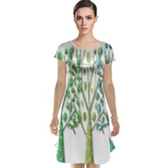 Magical green trees Cap Sleeve Nightdress
