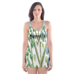 Magical green trees Skater Dress Swimsuit