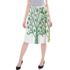 Magical green trees Midi Beach Skirt
