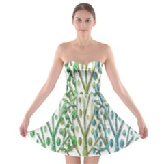 Magical green trees Strapless Bra Top Dress