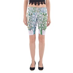 Magical green trees Yoga Cropped Leggings