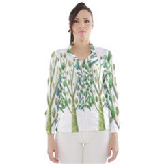 Magical green trees Wind Breaker (Women)