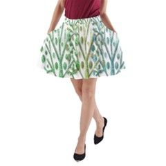 Magical green trees A-Line Pocket Skirt