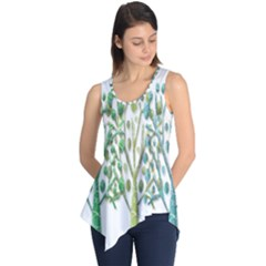 Magical green trees Sleeveless Tunic