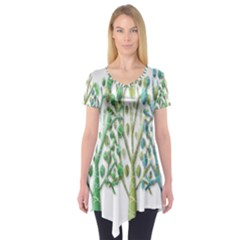 Magical green trees Short Sleeve Tunic