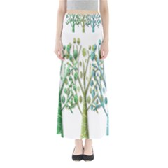 Magical green trees Maxi Skirts