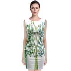 Magical green trees Classic Sleeveless Midi Dress