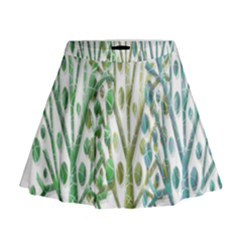 Magical green trees Mini Flare Skirt