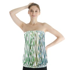 Magical green trees Strapless Top