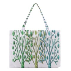 Magical green trees Medium Tote Bag