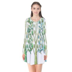 Magical green trees Flare Dress