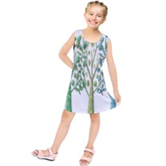 Magical green trees Kids  Tunic Dress