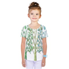 Magical green trees Kids  One Piece Tee