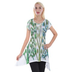 Magical green trees Short Sleeve Side Drop Tunic